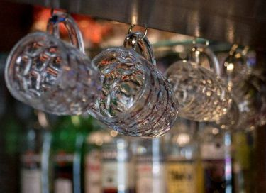 hanging beer glasses